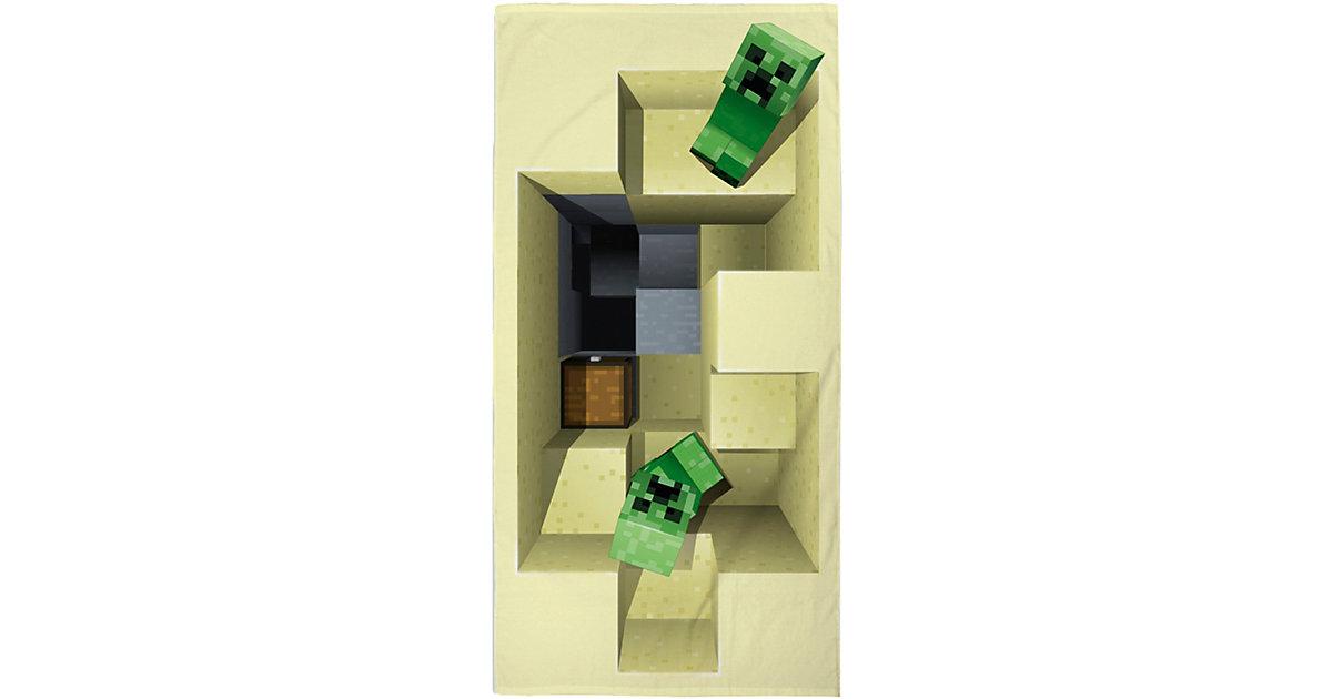 Minecraft · Strand- und Badetuch Minecraft, 70 x 140 cm