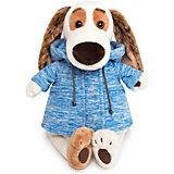 """Мягкая игрушка Budi Basa Собака Бартоломей в голубой куртке """"B&Co"""", 27 см"""