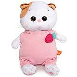 Мягкая игрушка Budi Basa Кошечка Ли-Ли Baby в розовом комбинезоне с клубничкой, 20 см