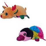 """Мягкая игрушка Teddy """"Перевертыши"""" Олень-Тукан, 16 см."""