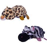 "Мягкая игрушка Teddy ""Перевертыши"" Зебра-Леопард, 16 см."