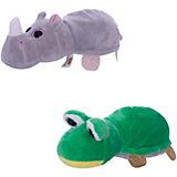 "Мягкая игрушка Teddy ""Перевертыши"" Лягушка-Носорог, 16 см."