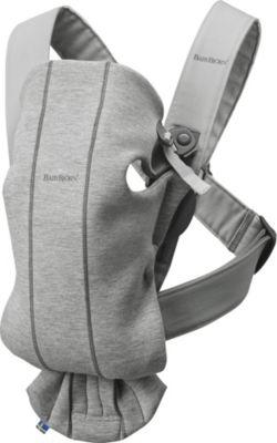 "Рюкзак-кенгуру BabyBjorn ""Mini Cotton Jersey"", светло-серый"