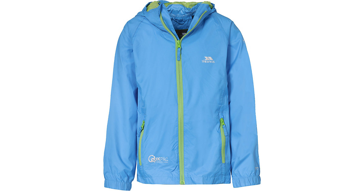 TRESPASS · Kinder Outdoorjacke QIKPAC, packbar Gr. 98/104