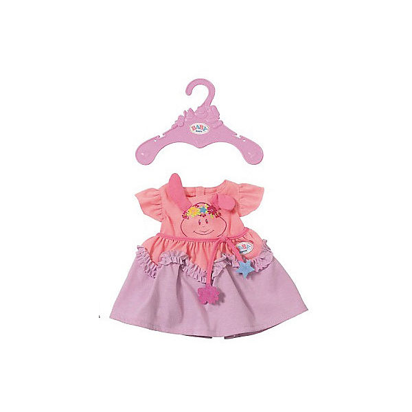 Платье для куклы BABY born, розово-сиреневое