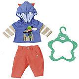 Одежда для  мальчика BABY born оранжево-синяя