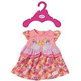 Платье для куклы BABY born, в цветочек