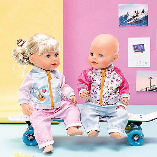Штанишки и кофточка для прогулки BABY born, голубо-розовые от Zapf Creation