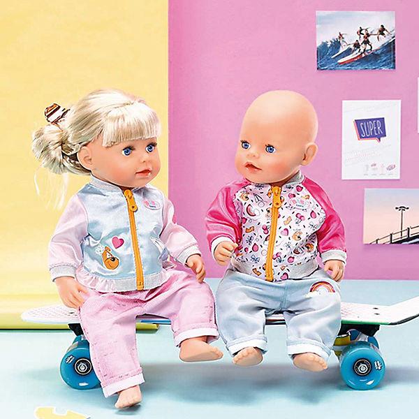 Штанишки и кофточка для прогулки BABY born, голубо-розовые