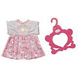 Платье Baby Annabell бело - розовое