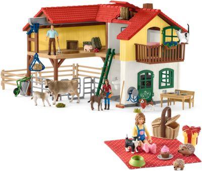 Kleinkindspielzeug Schleich Spielset Futtersilo mit TierenSchleich 41429Schleich Spielzeug