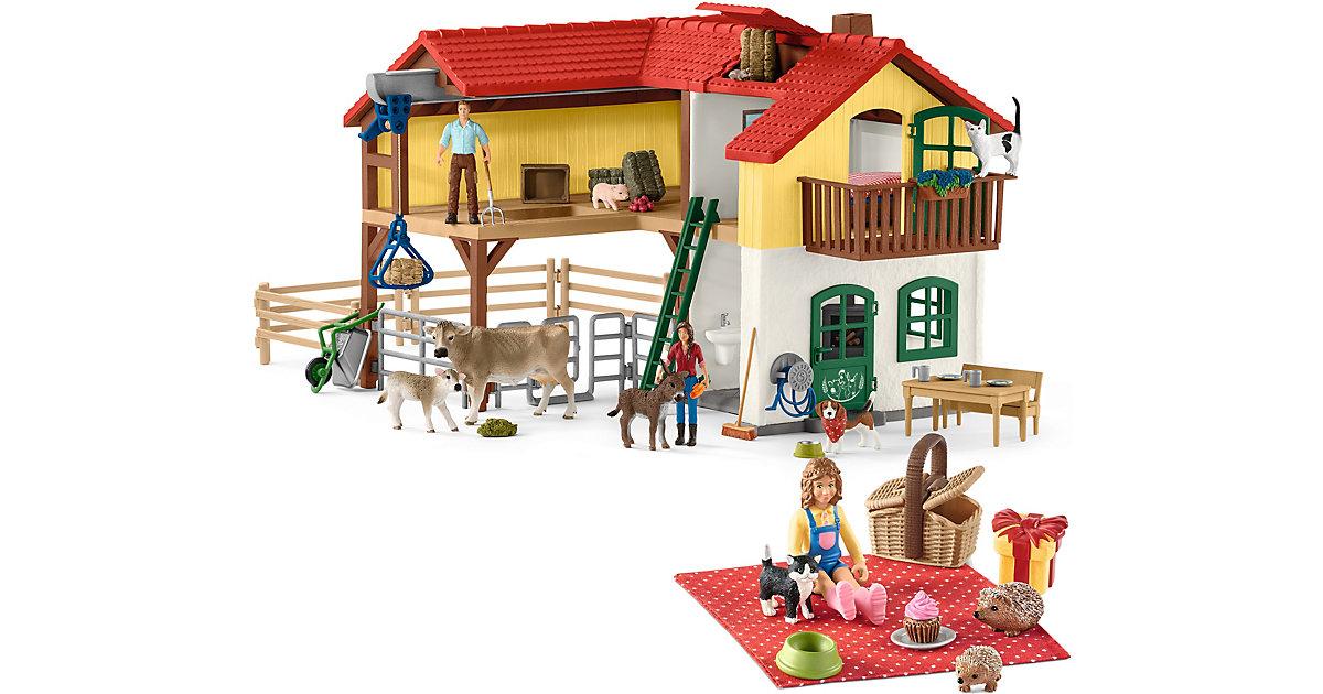 Schleich · Bundle Schleich Farm World: Bauernhaus (42407) mit Geburstagspicknick (42426)