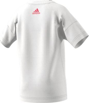 adidas Performance, T Shirt E LIN für Mädchen, weißkoralle