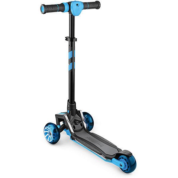 """Трёхколесный самокат со светящимися колёсами Small Rider """"Premium Pro"""", синий"""