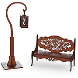 """Набор мебели Одним прекрасным утром """"Скамейка и фонарик"""", коричневый"""