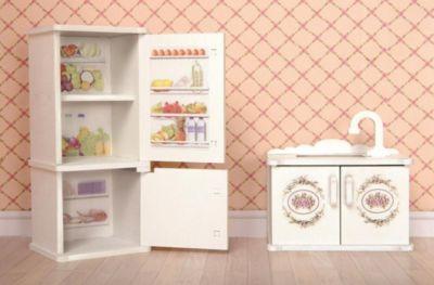 """Набор мебели Одним прекрасным утром """"Прованс"""" Кухня, мойка и холодильник"""