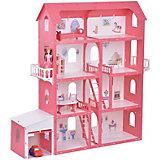 """Дом для кукол """"Коттедж Александра"""", бело-красный с мебелью"""