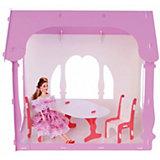 """Домик для кукол """"Летний дом Вероника"""", бело-розовый с мебелью"""