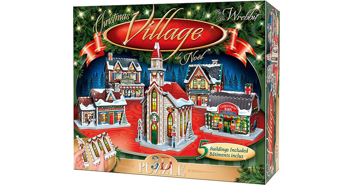 WREBBIT · Wrebbit 3D Puzzle 116 Teile Weihnachtsdorf, 5 Gebäude