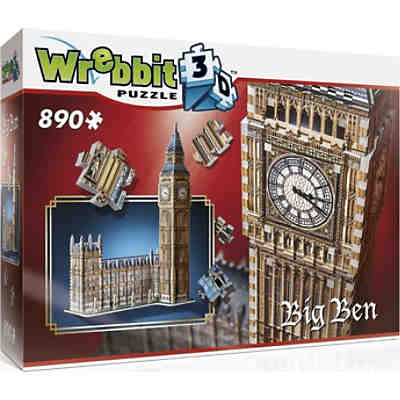 Wrebbit 3D Puzzle 890 Teile Big Ben & House of Parliament
