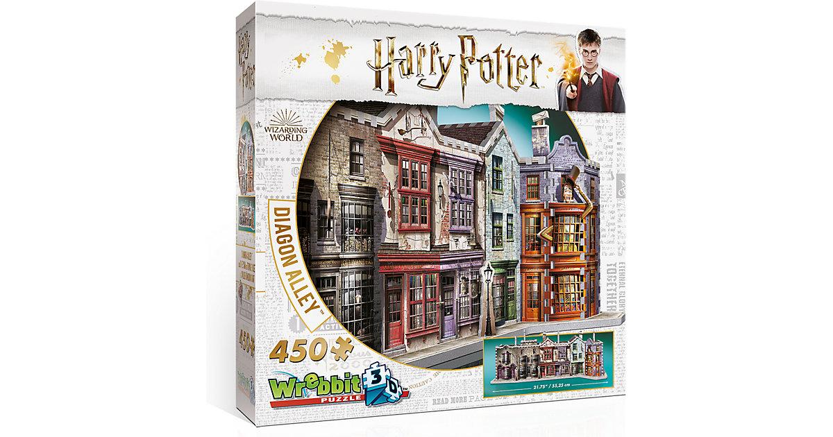 Wrebbit 3D Puzzle 450 Teile Harry Potter Winkel...