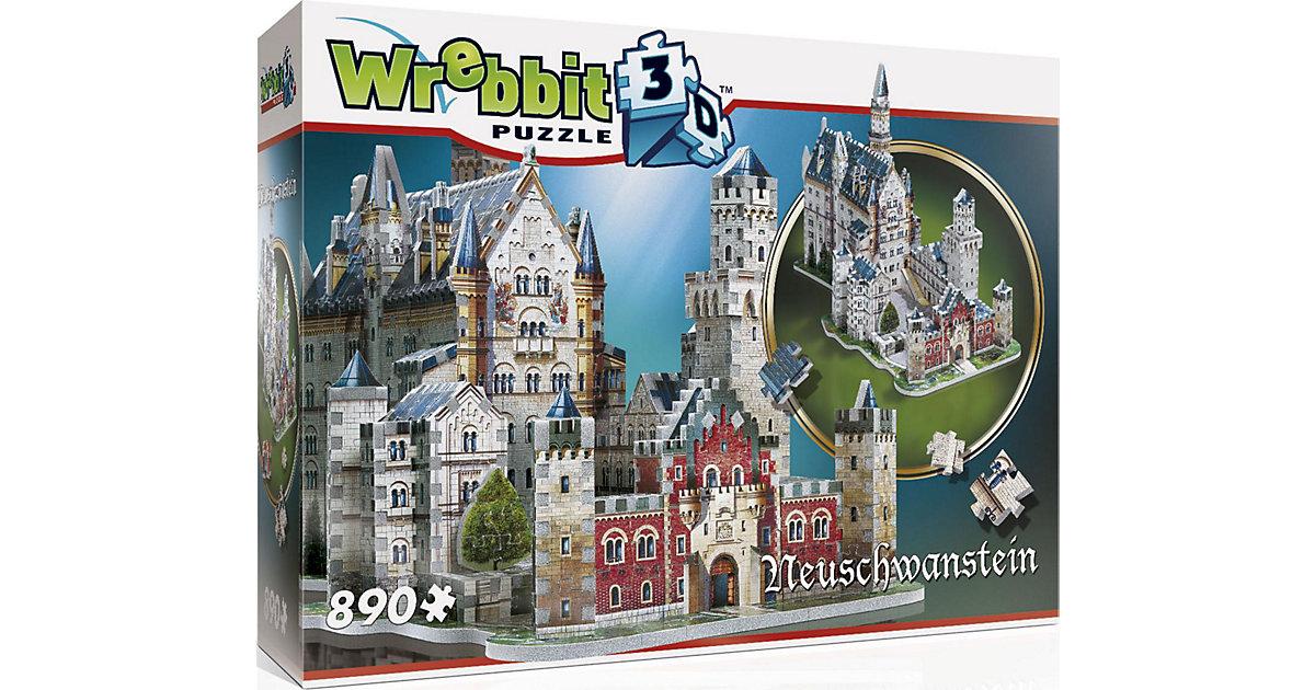 WREBBIT · Wrebbit 3D Puzzle 890 Teile Schloss Neuschwanstein