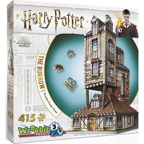 Wrebbit 3D Puzzle 415 Teile Harry Potter Fuchsbau, Harry Potter