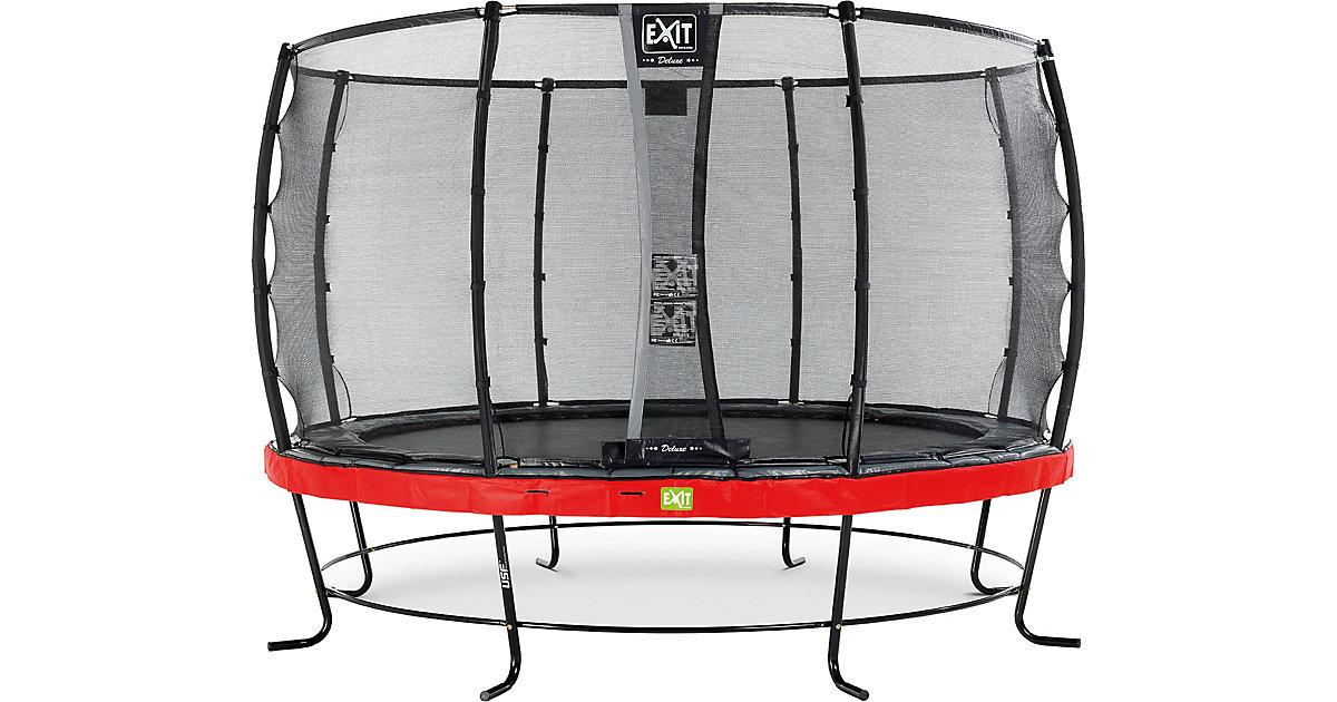 EXIT · Trampolin Elegant Trampoline 366 cm + Sicherheitsnetz Deluxe, rot