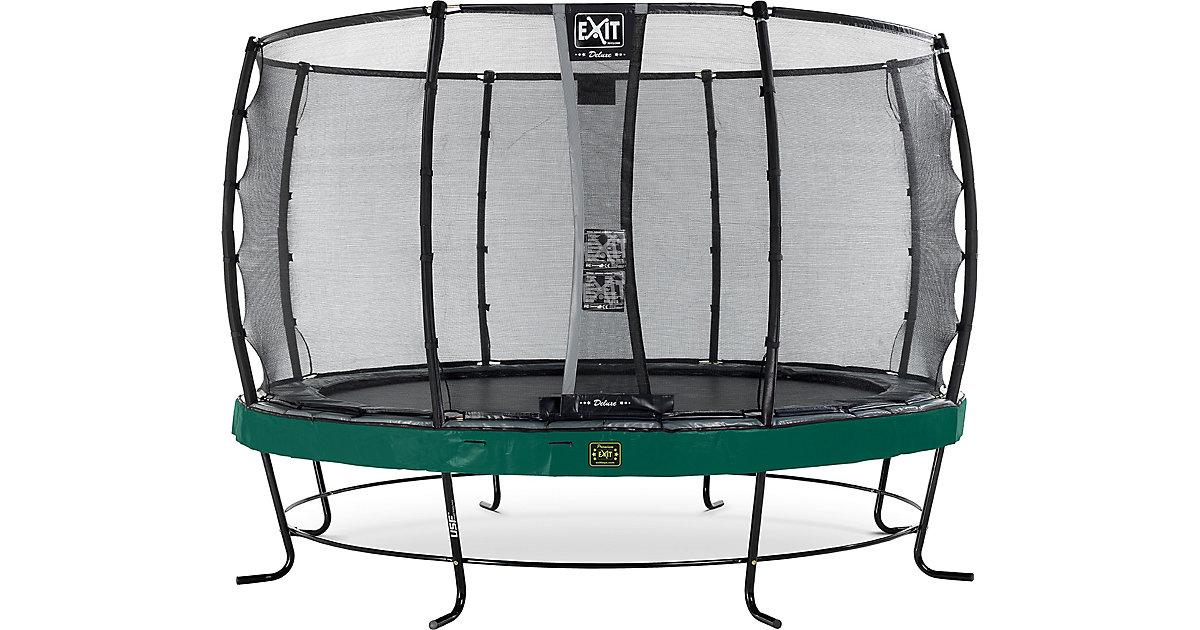 EXIT · Trampolin Elegant Premium 366 cm + Sicherheitsnetz Deluxe, grün