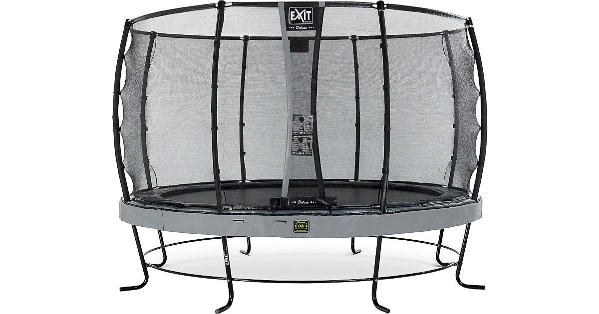 EXIT · Trampolin Elegant Premium 366 cm + Sicherheitsnetz Deluxe, grau