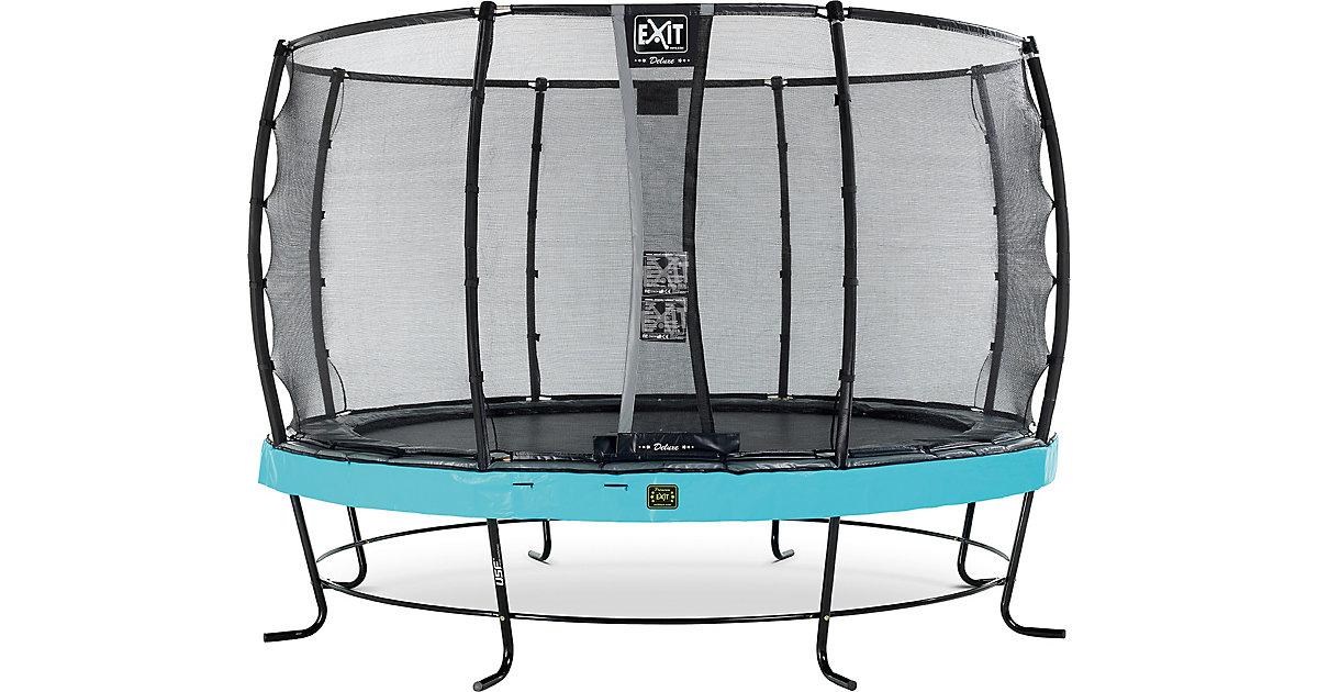 EXIT · Trampolin Elegant Premium 366 cm + Sicherheitsnetz Deluxe, blau