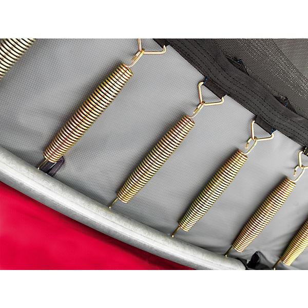 Trampolin Elegant Premium 366 cm + Sicherheitsnetz Deluxe, rot, EXIT zh0Avw