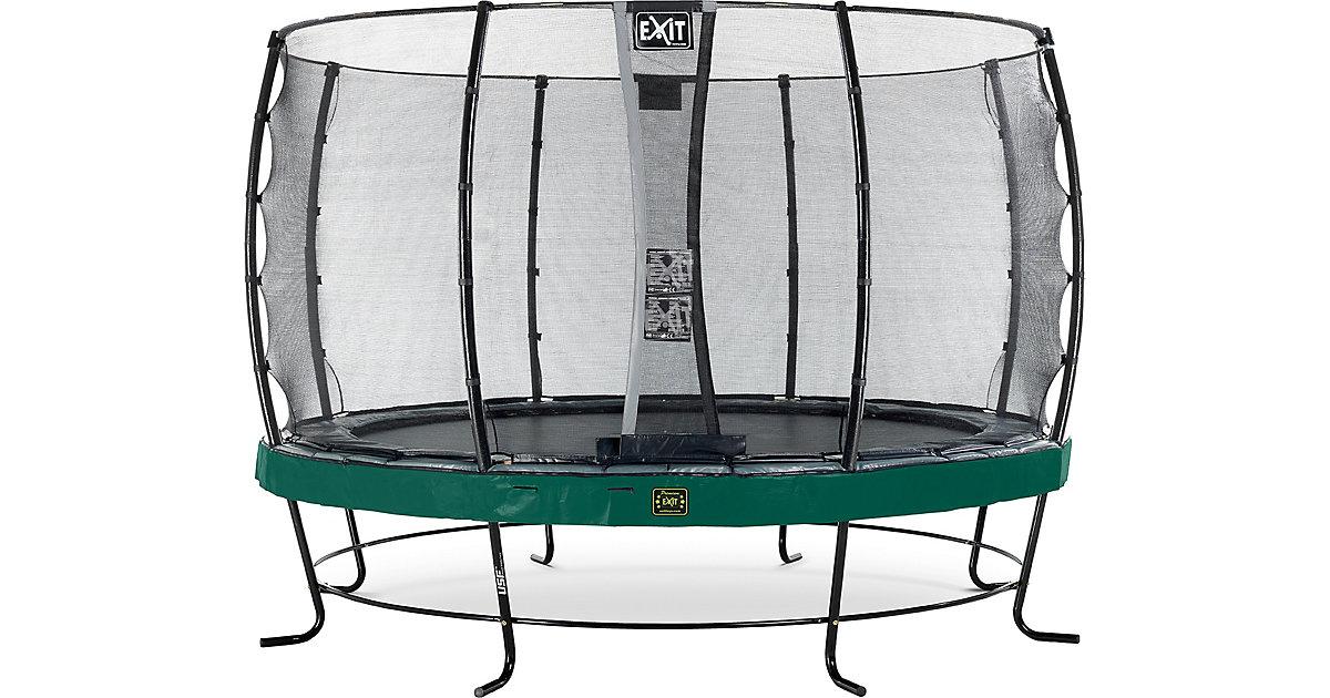 EXIT · Trampolin Elegant Premium 366 cm + Sicherheitsnetz Economy, grün