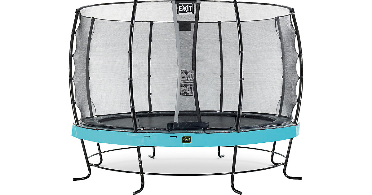 EXIT · Trampolin Elegant Premium 366 cm + Sicherheitsnetz Economy, blau