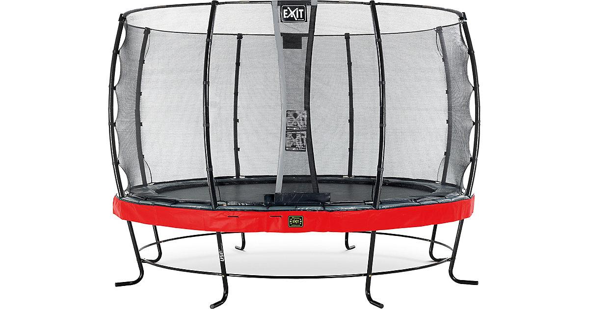 EXIT · Trampolin Elegant Premium 366 cm + Sicherheitsnetz Economy, rot