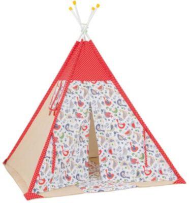 Палатка-вигвам детская Polini Кантри, красная
