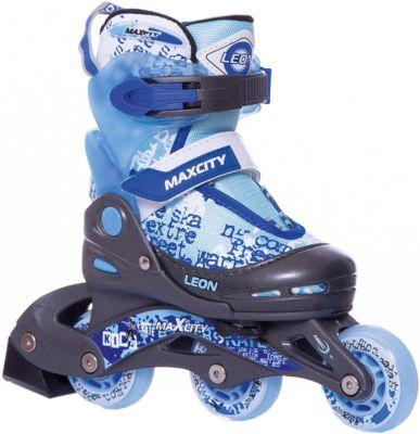 Роликовые коньки MaxCity Leon, синие