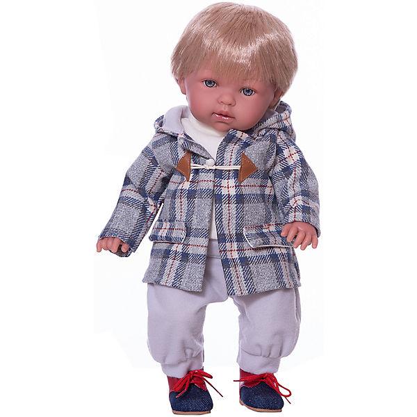 Кукла-пупс Vestida de Azul Тонино - городской модник в пальто, 42 см