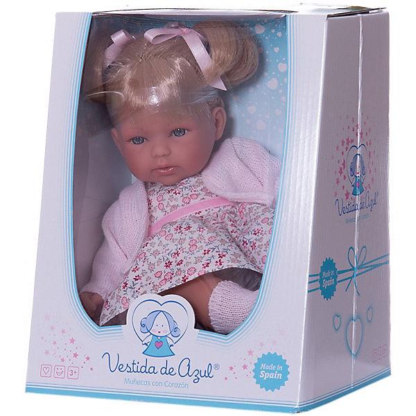 """Кукла-пупс Vestida de Azul """"Весна"""" Оливия блондинка с хвостиками, 30 см"""
