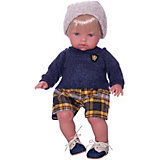Кукла-пупс Vestida de Azul Тонино - городской модник в шапочке, 42 см
