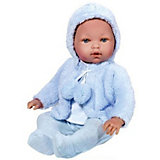 Кукла-пупс Vestida de Azul Тонино в голубой шубке, 45 см (звук)