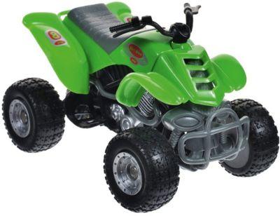 "Мотоцикл Autotime ""Quadrobike ""Monster"" 1:16, зеленый"