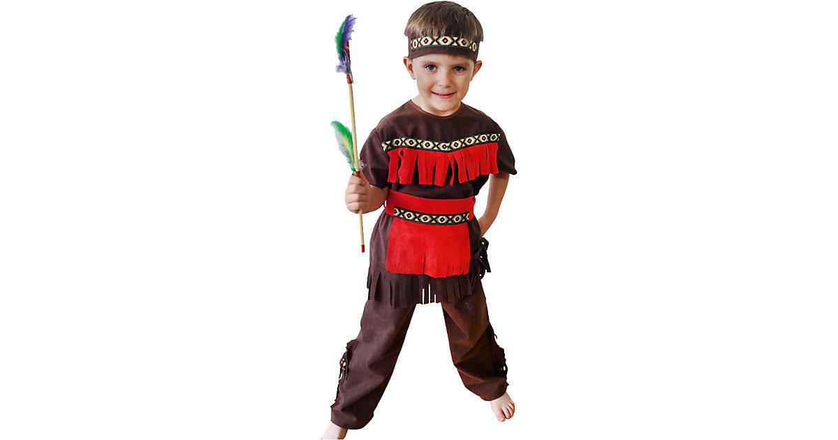 Kostüm Indianer, 3-tlg. Gr. 122/128 Jungen Kinder