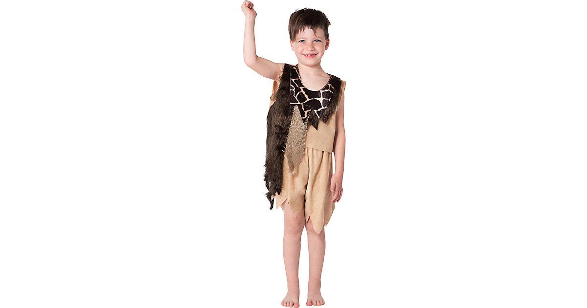 Kostüm Steinzeit Junge, 2-tlg. braun Gr. 98/104 Jungen Kleinkinder