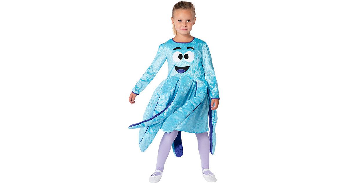 Kostüm Oktopuskleid türkis/lila Gr. 110/116 Mädchen Kinder