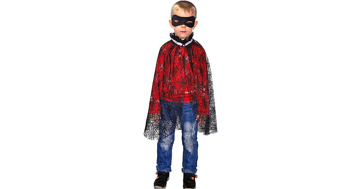 Kostüm Cape Spinnennetz Gr. 122/128 Jungen Kinder