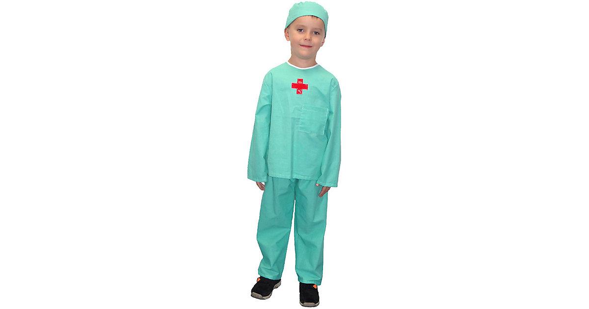 Kostüm Doktor, 3-tlg. grün Gr. 110/116