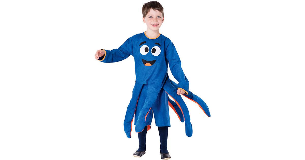 Kostüm Oktopus blau, 2-tlg. Gr. 110/116 Jungen Kinder