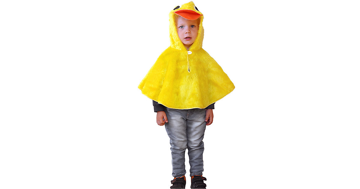 Kostüm Cape Ente gelb Gr. 86/92 Mädchen Kleinkinder