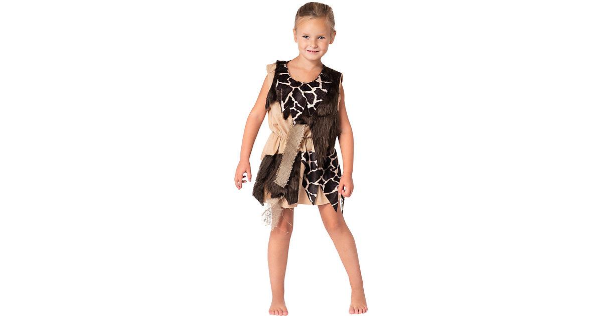 Kostüm Steinzeit Mädchen braun Gr. 98/104 Mädchen Kleinkinder